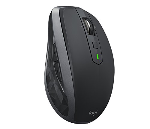 Logitech MX Anywhere 2 Mouse Wireless, Utilizzo su Qualsiasi Superficie, Scorrimento Veloce, Ricaricabile, per Computer Mac o Windows e Computer Portatili, Nero/Oro