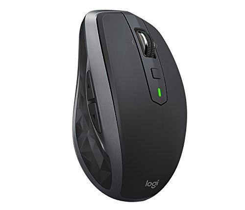 Logitech MX Anywhere 2S RF Draadloos + Bluetooth Laser 1000Dpi rechtshandig grafiet – muis (RF draadloos + Bluetooth, kantoor, toetsen pressoirs, loopwiel, laser, 1000 Dpi)