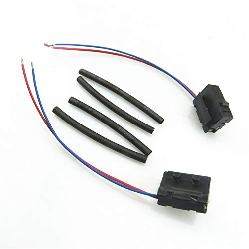 RWSYPL LIGHT TOP DRIVE ENLACE ENLACE Cerradura de la puerta de automóvil Micro Interruptor para Golf 4 MK4 Passat B5 Bora Polo Touran A6 C6 3BD998785 3BD998786 (Color : 1Pair)