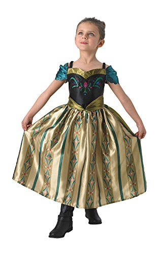 Rubie's Faschingskostüm, Offizielles Disney Frozen-Kostüm Anna, Krönungskleid, Kinder-Märchen-Kostüm