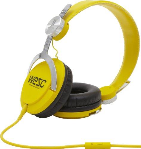 WeSC Bass OverEar-Kopfhörer (Hands-Free Unit, 180° drehbare Ohrmuschel, abnehmbares Kabel) gelb