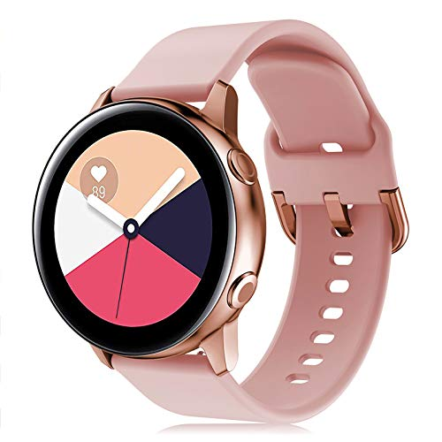 Onedream Correa Compatible con Samsung Galaxy Watch Active/Active 2 44mm 40mm Pulsera Silicona Mujer Hombre, Repuesto Compatible con Samsung Galaxy Watch 42mm/ Galaxy Watch 3 41mm Rosa