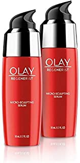 Olay Regenerist Micro-Sculpting Serum, Ultra-Lightweight, Advanced Anti-Aging Moisturize, 2-Pack, 50 Milliliter (1.7 FL OZ) Each; 100 Milliliter (3.4 FL OZ) Total