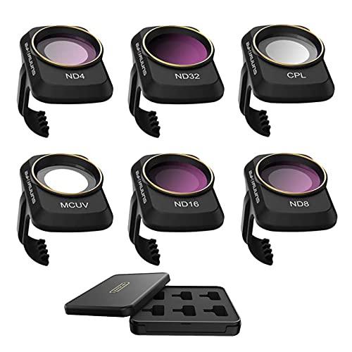RUIZHI 6pcs Filtro Obiettivo Fotocamera per DJI Mavic Mini/Mavic Mini 2 Drone Filtro Multistrato (MCUV CPL ND4 ND8 ND16 ND32)