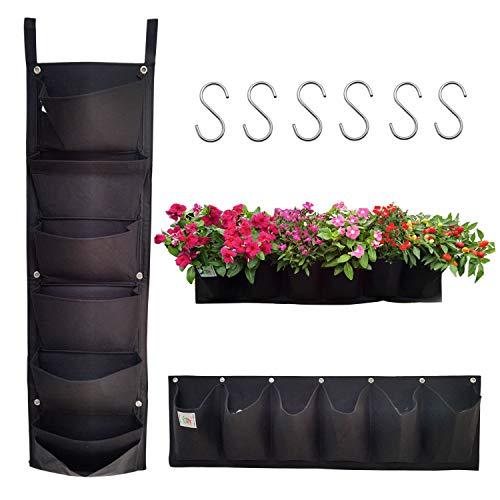 【2 Stück】 G-More Taschen Pflanztaschen Hängend, Hängepflanzgefäße, Pflanzgefäß Flowerpot Bag, Wachsende Tasche Pflanzgefäße Taschen für Draussen Blumen Kartoffeln Tomaten und Erdbeeren