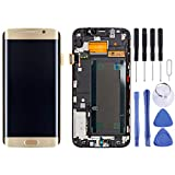 VWMUB LCD-Touchscreen Digitizer Komponente Zhangdi LCD Display + Touch Panel mit Rahmen for Galaxy S6 Edge + / G928F (Gold) (Farbe : Gold)