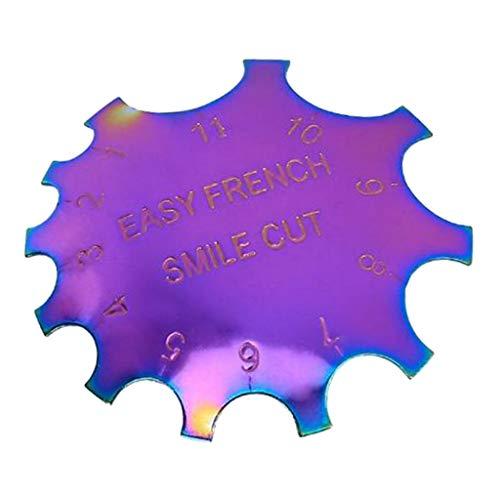 Amuzocity Cortador de uñas simple en forma de C punta de 11 tamaños plantilla de arte de uñas herramienta de peinado