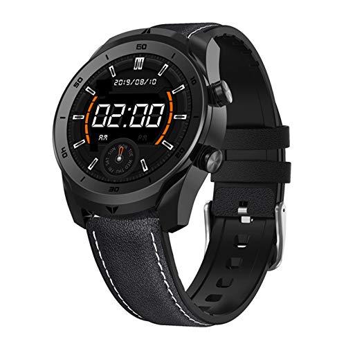 LTLJX Smartwatch, 1.3'' Reloj de Actividad Inteligente Impermeable Hombre Mujer Pulsómetro Blood Pressure Sueño Podómetro Pulsera Deporte Reloj para Android y iOS Teléfono móvil,Black1