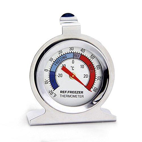 Mooyod Kühlschrank Gefrierschrank Thermometer Edelstahl Zifferblatt Typ Temperaturmesswerkzeug