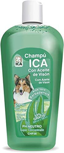 ICA CHP38 Champú de Aceite Visón con Aloe Vera para Perros