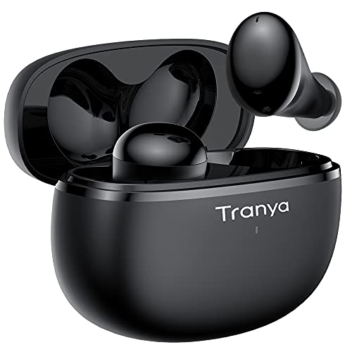 Tranya T20 Wireless Earbuds, Premium Sound with Deep Bass, 8H Playtime, 4-Microphones...