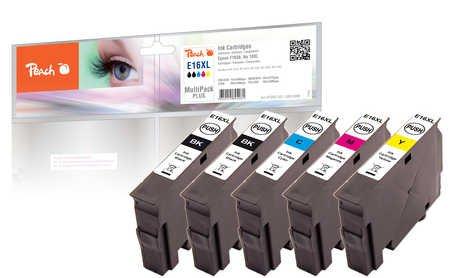 Peach Spar Pack Plus Tintenpatronen, kompatibel zu Epson No. 16XL, T1636