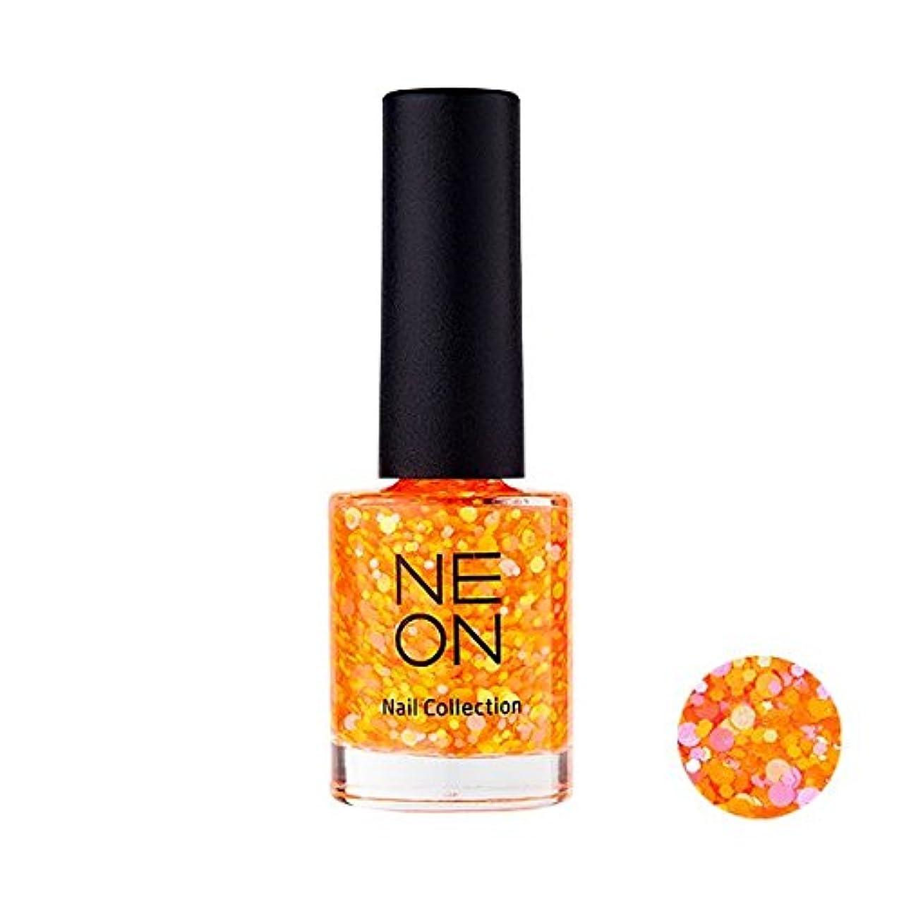 休暇踏み台セクタIt'S SKIN Neon nail collection [03 Neon Glitter Orange] イッツスキン ネオンネイルコレクション [03 ネオン グリッター オレンジ] [並行輸入品]