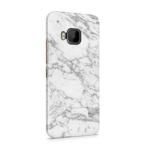 Natürlicher Weicher Grauer Marmor Stone Print Dünne Handy Schutzhülle Hardcase Aus Hartplastik Hülle Kompatibel mit HTC One M9 Handyhülle Case Cover