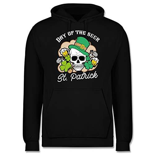 St. Patricks Day - Day of The Beer! St. Patrick - weiß - XS - Schwarz - Bier - JH001 - Herren Hoodie und Kapuzenpullover für Männer
