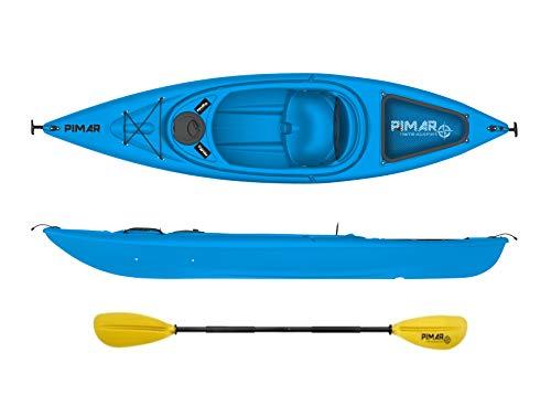 Pimar Nautica Kayak - Canoa da 305 Cm + 1 Gavone + 1 Pagaia + 1 Seggiolino (Blue)