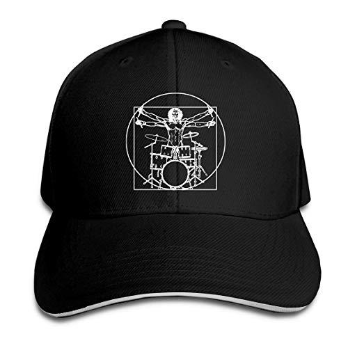 Wheatleya Da Vinci Schlagzeuger Lustige Musik Trommeln Sandwich Hüte Baseball Cap Hut Hysteresenhut Papa Hut Schwarz