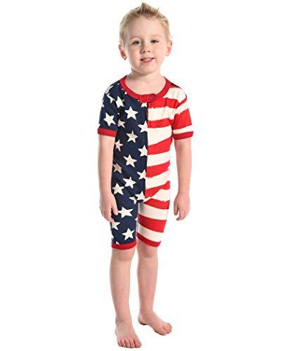 Lazy One Combinaison Pyjama Unisexe Enfant 2 Ans Etoiles et Rayures