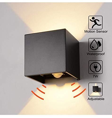 MASODHDFX LED wandlamp, waterdicht buiten IP65 bewegingsmelder door Radar wandlamp voor de veranda, decoratie van binnenruimten