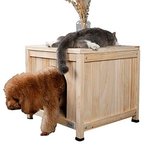Hond Huizen Huisdier huis Houten hondenhok Binnen kleine hond huisdier huis Waterdichte en ademende kennel Verwijderbare Huizen, Kratten & Accessoires