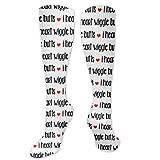 I Love Dogs! Calcetines de compresión Aka I Heart Wiggle Butts para amantes de los perros, calcetines largos hasta la rodilla para deporte, atletismo, para hombres y mujeres