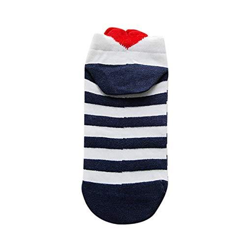 Zolimx Damen Socken Beiläufige Arbeit Herz-Förmige Baumwollliebe-Bequeme Mode Socke