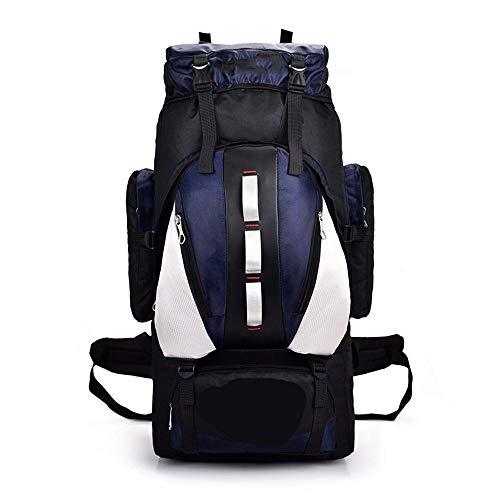 Wanderrucksack Yuan Ou Großer Rucksack 100L Outdoor Sporttaschen Wasserdichtes Nylon Damen Herren Wandern Camping Klettern Angeln Rucksack Tasche Marine