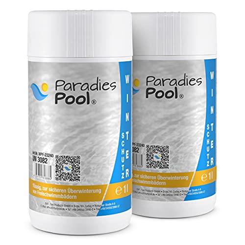 Paradies Pool Winterschutzmittel für Pool, 2 Liter schaumfrei Überwinterung Schwimmbecken