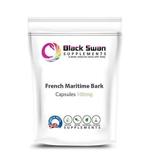 Black Swan French Maritime Bark 100mg Capsule - for Anti-Inflammatory and Antioxidant – Vegetarian Capsules (30 caps)