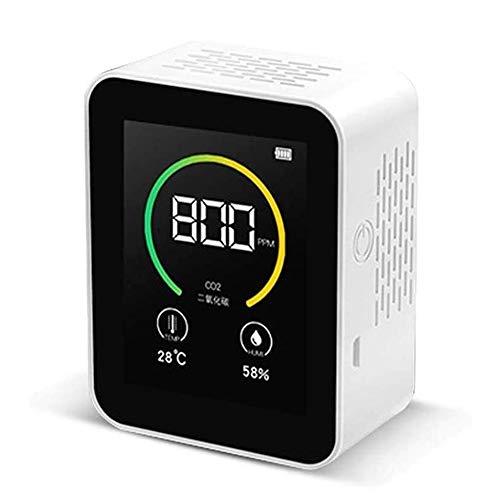 LILIS Carbon Monoxide Meter Kohlendioxidgasdetektor CO2 Meter Farbbildschirm TFT Intelligent Air Tester Luftqualitätsmonitor Gasanalysator