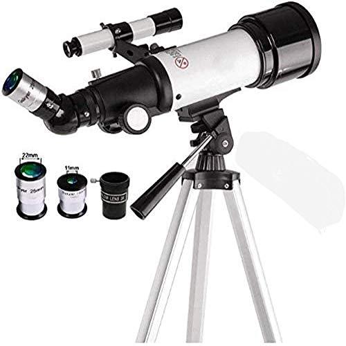 Telescopio astrónomos Telescopio Alta magnificación Ángulo de detección telescópico Telescopio astronómico Trípode Impermeable para Principiantes Amateur