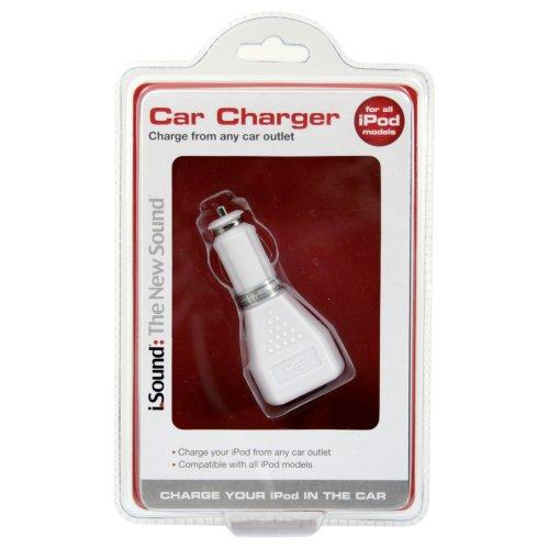 i.Sound USB Car Charger (White)