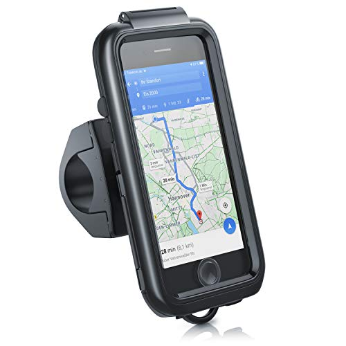 CSL - Fahrradhalterung kompatibel für Apple iPhone 6 7 8 SE 2. Gen Fahrrad Tasche spritzwasserdichte Handy Smartphone Halterung - geeignet für Bike Navigation - Touchscreen Unterstützung - wasserdicht
