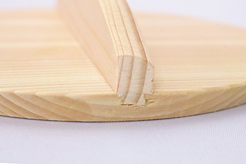 市原木工所落し蓋木製樹婦人S直径15cm