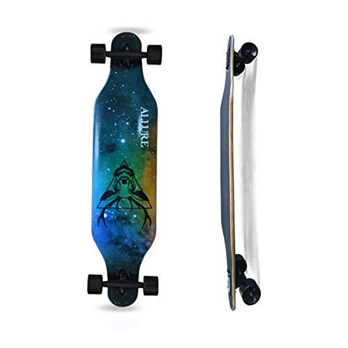 ACMOMO Longboard Skateboard Drop Through Cruiser Komplettboard mit Mach1 High Speed Kugellager T-Tool mit