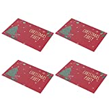 FINIVE Table Placemat Waterproof PVC Christmas Placemat Home Decor Portable Waterproof 2