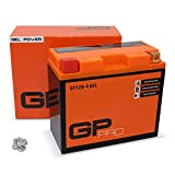 GP-PRO GT12B-4 12V 10Ah GEL Batería de arranque (parecido a YT12B-4 / YT12B-BS) (Sin necesidad de mantenimiento/Sellado) Moto Acumulador