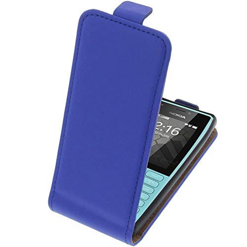 foto-kontor Tasche für Nokia 216 Smartphone Flipstyle Schutz Hülle blau