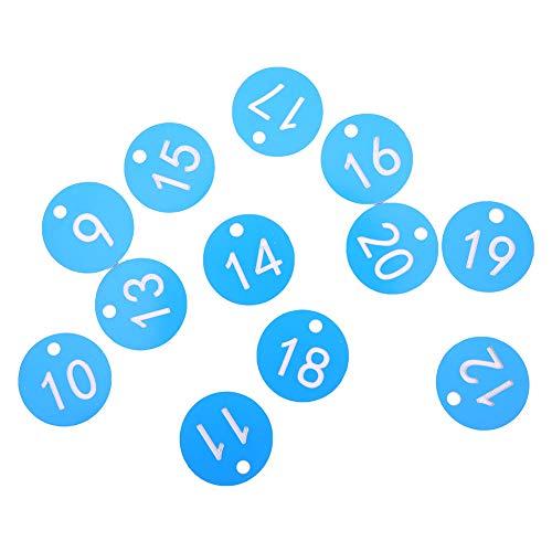 03 Etiqueta de número de Granja, Herramienta de Apicultura, Etiqueta numerada, Suministros de cría, para la cría de Animales de Apicultura(Blue, 1-20/bag)