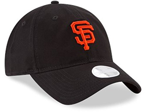New Era Core Classic sarga Team Color 9TWENTY Gorra ajustable para mujer, San Francisco Giants, Negro, Una talla