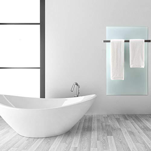 Infrarot-Heizung Heiz-Paneel 100W 50x32cm Elektroheizung Glas Panel Weiß Bild 5*