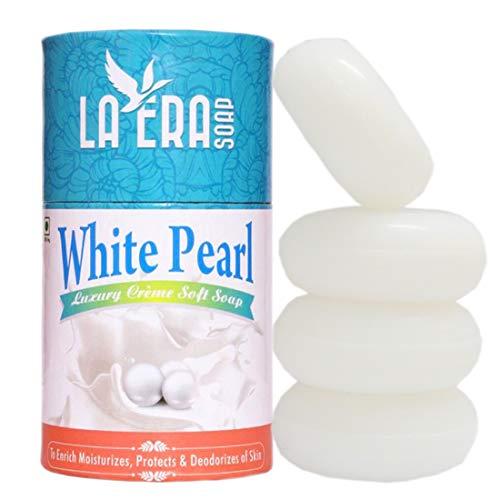 La Era White Pearl Luxury Creme Soft Soap with Moisturizing (4X100 gm) 400 gm