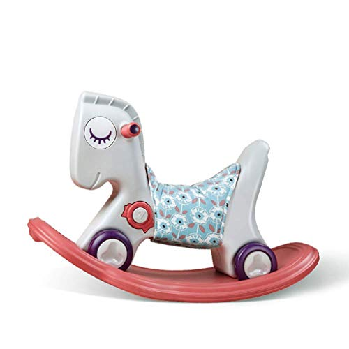 JWDYA Baby Rocking Horse, 1-3 Years Old Mini Plastic Rocking Chair, Baby Boy and Girl Kid Toy Outdoor and Indoor Rocking Chair