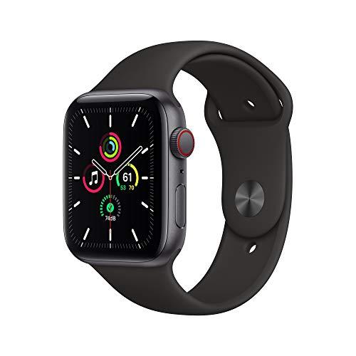 AppleWatch SE (GPS+ Cellular, 44mm) Aluminiumgehäuse Space Grau, Sportarmband Schwarz