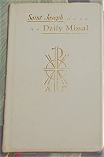 Saint Joseph Daily Missal 1961 T-810 Genuine Leather bound
