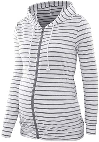 BBHoping Maternity Hoodie Zip Up Long Sleeve Sweatshirts Tops with Pocket product image