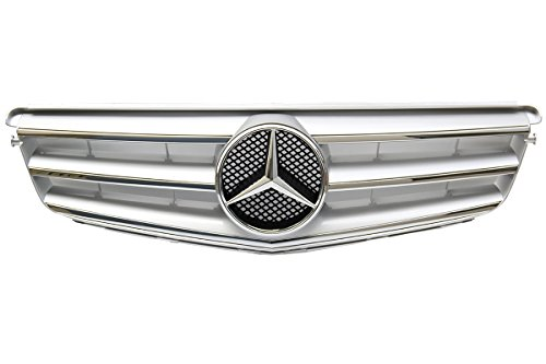 Mercedes Benz W204 C Class Front Radiator Grill Silver Sport Grill 2008-2014 C250 C300 C350 New