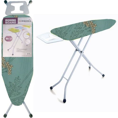 BARGAINS-GALORE 38 X 110CM IRONING BOARD LIGHTWEIGHT HEIGHT ADJUSTABLE WIDE...
