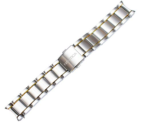 Nautica Men's N17539G NCS 500 22mm Two-Tone Stainless Steel Original Replacement Watch Bracelet