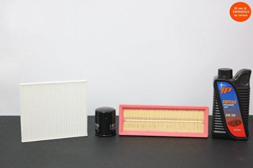 Inspectie met 3 filters (lucht-olie-binnenruimte) + 4 liter olie